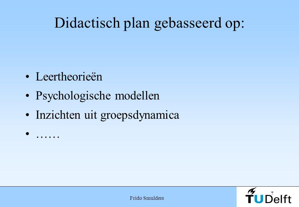 Didactisch plan gebasseerd op: