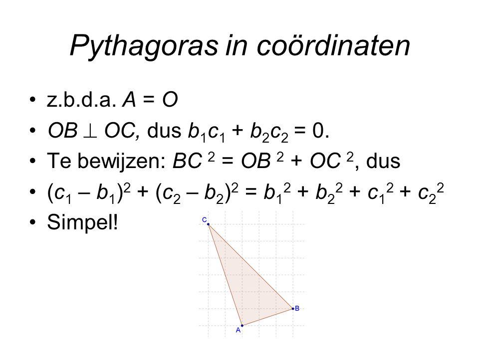 Pythagoras in coördinaten