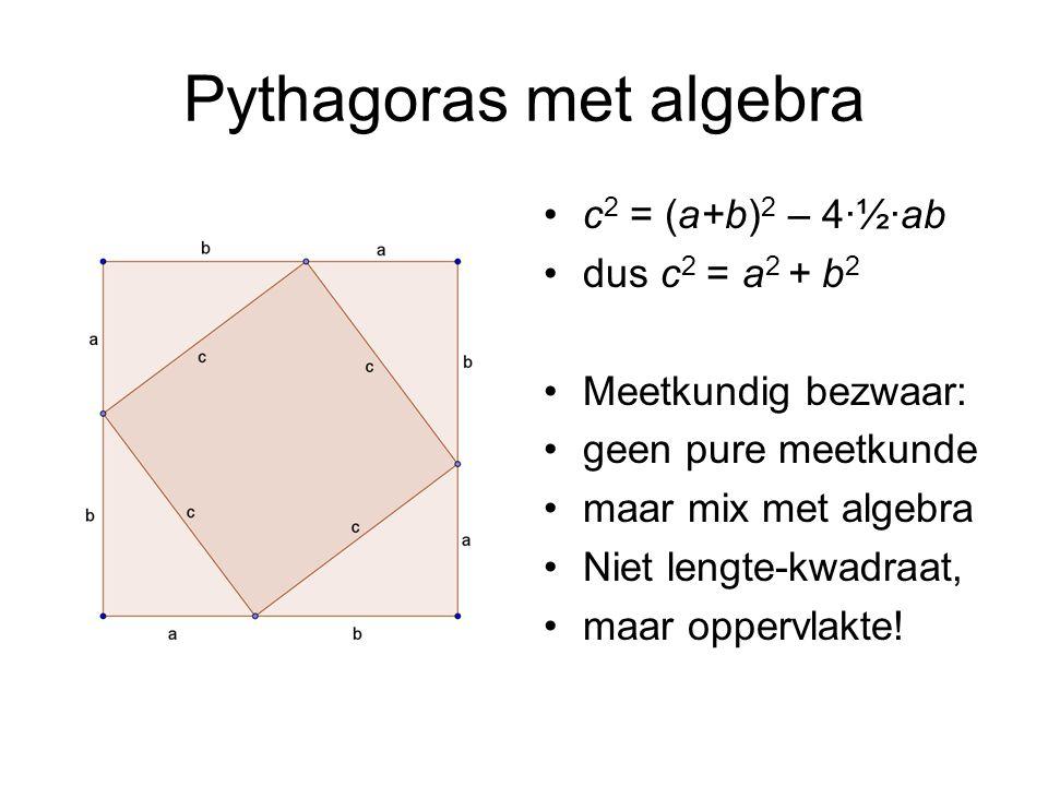 Pythagoras met algebra