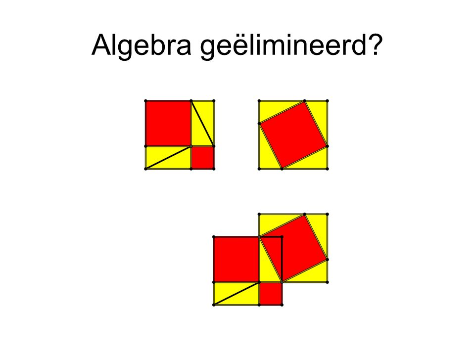 Algebra geëlimineerd