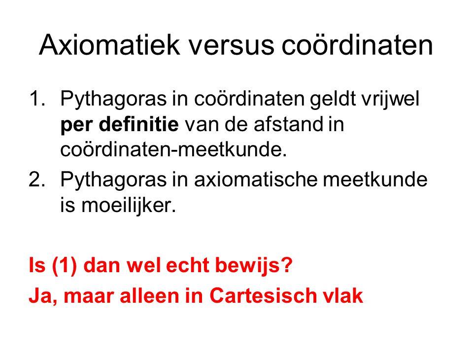 Axiomatiek versus coördinaten