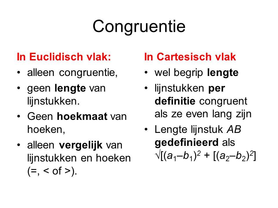 Congruentie In Euclidisch vlak: alleen congruentie,