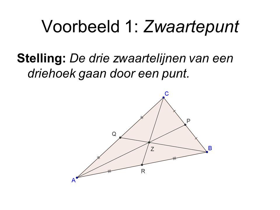 Voorbeeld 1: Zwaartepunt