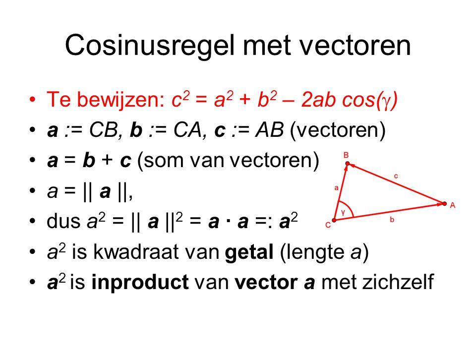 Cosinusregel met vectoren
