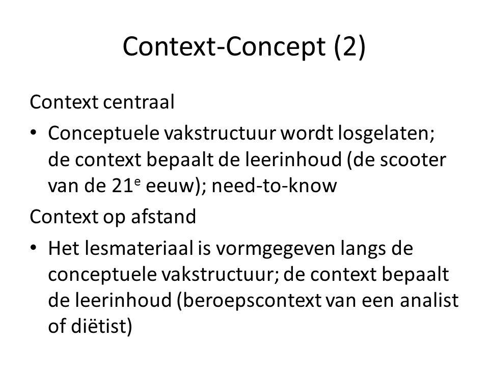 Context-Concept (2) Context centraal