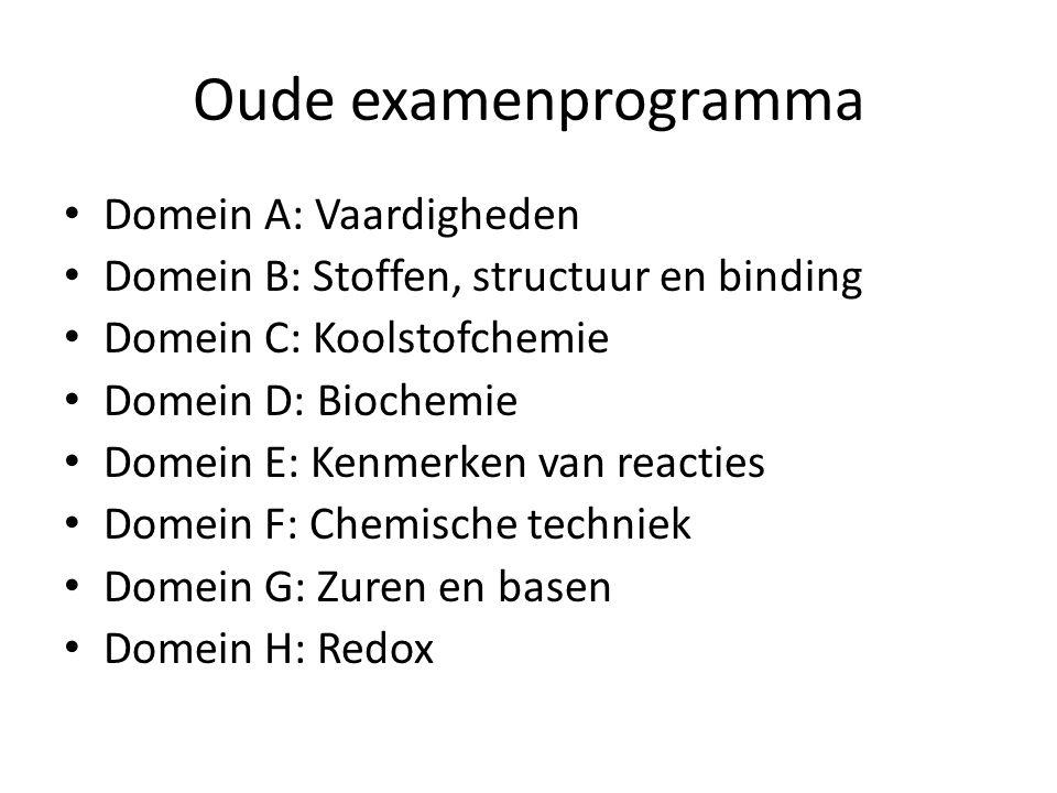 Oude examenprogramma Domein A: Vaardigheden