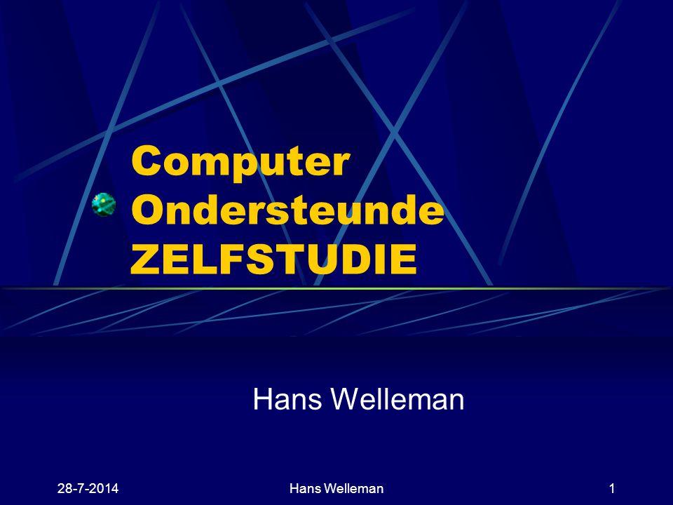 Computer Ondersteunde ZELFSTUDIE