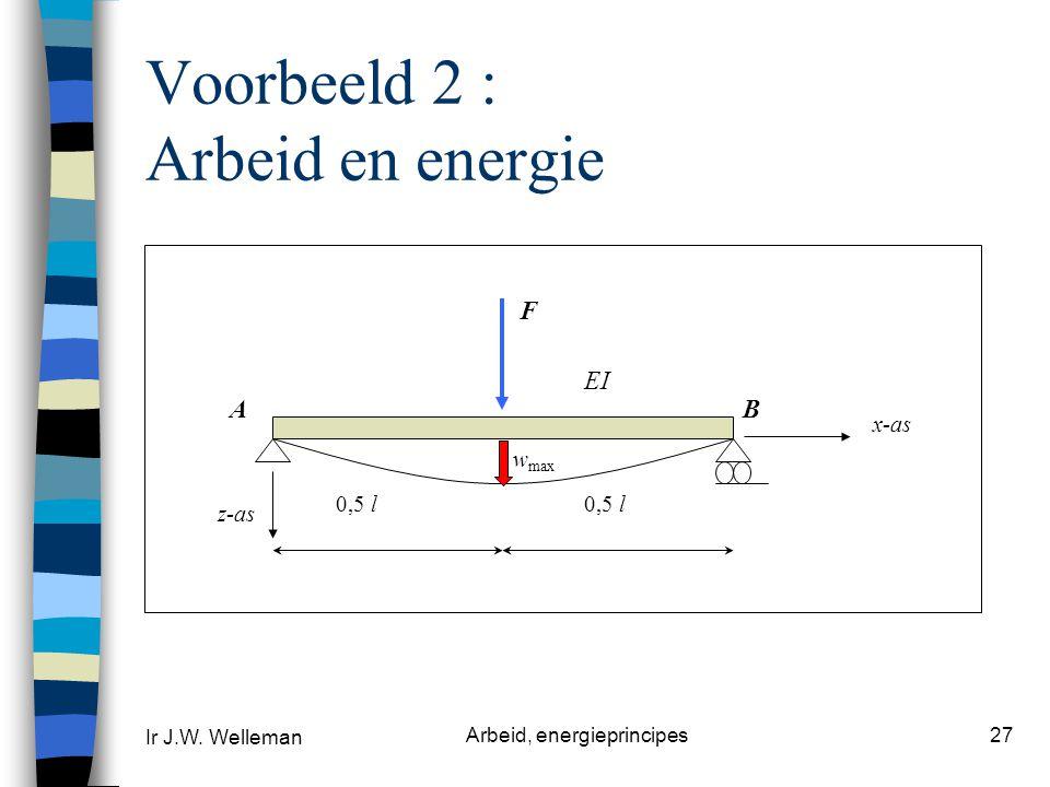 Voorbeeld 2 : Arbeid en energie