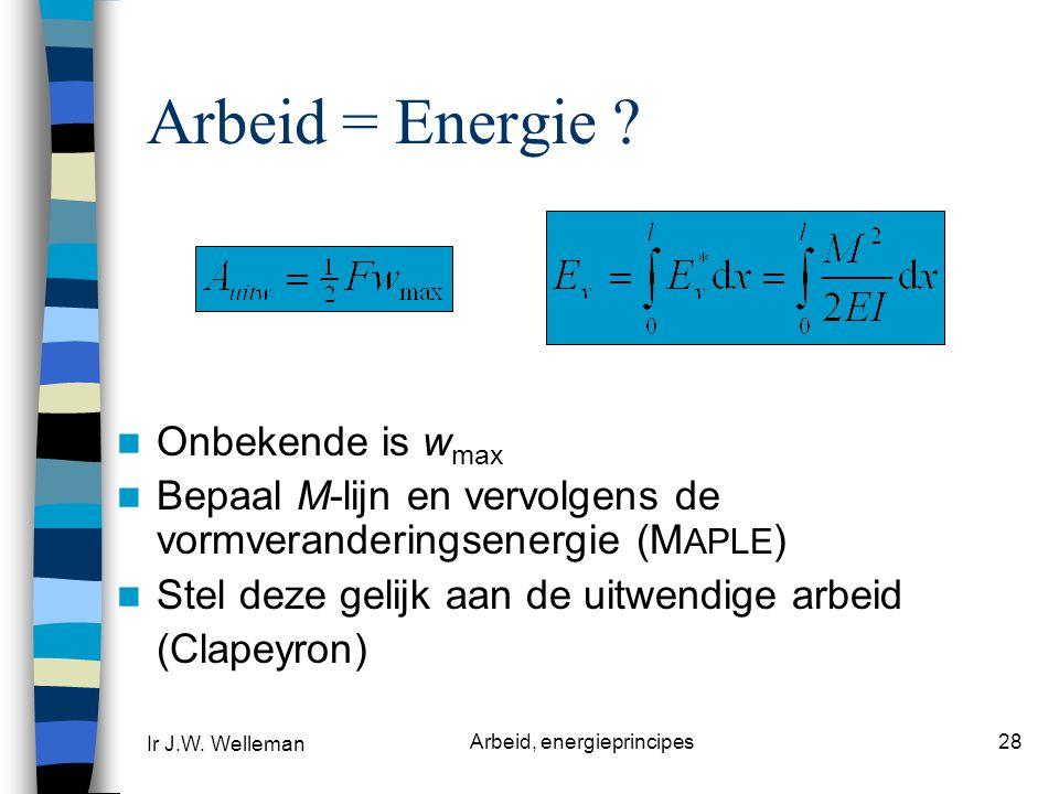 Arbeid, energieprincipes