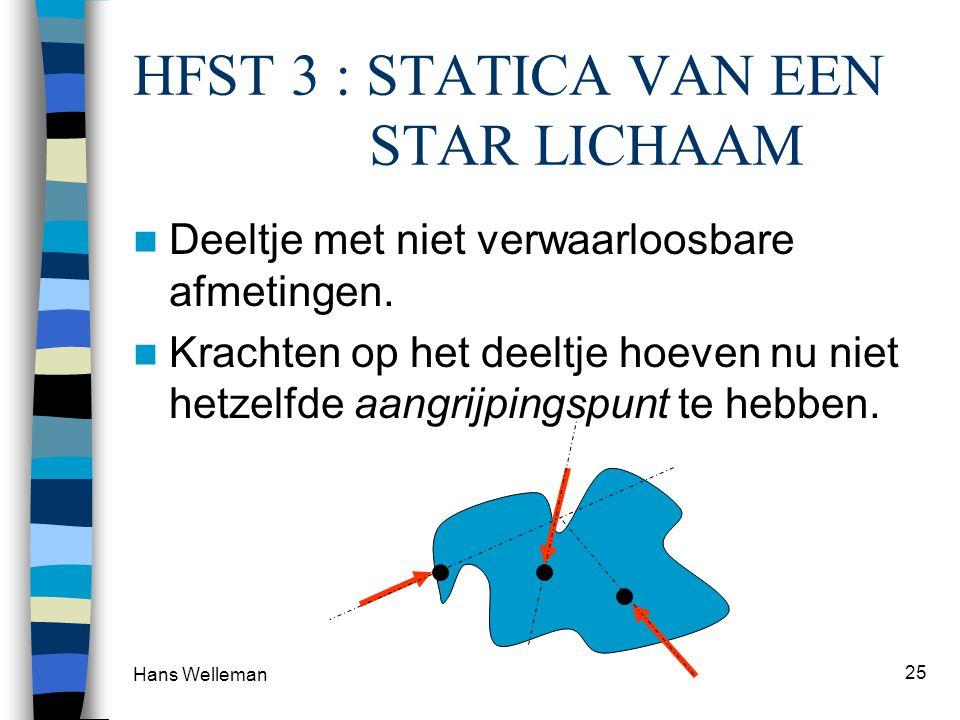 HFST 3 : STATICA VAN EEN STAR LICHAAM