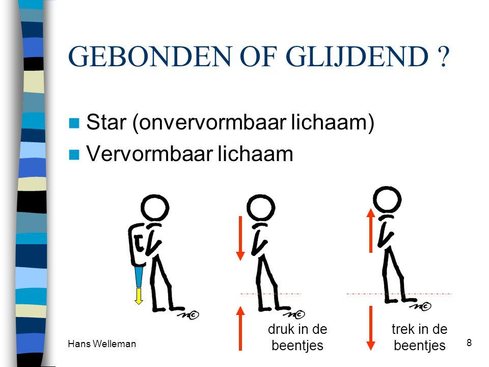 GEBONDEN OF GLIJDEND Star (onvervormbaar lichaam)