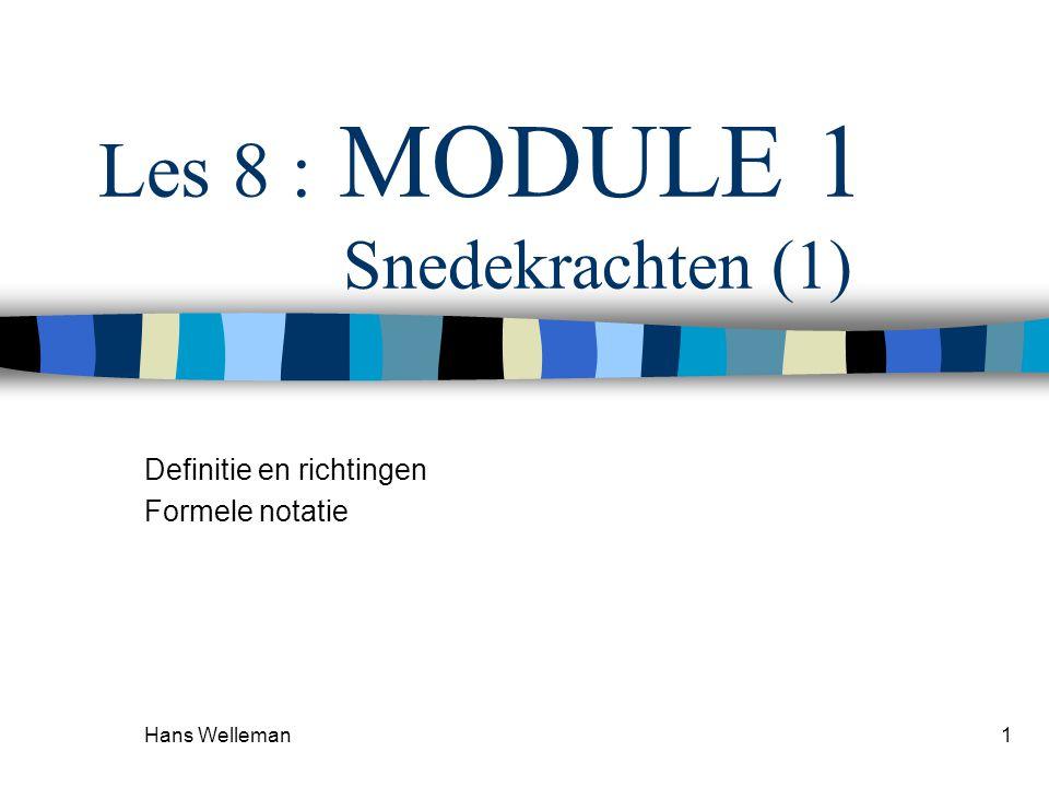 Les 8 : MODULE 1 Snedekrachten (1)
