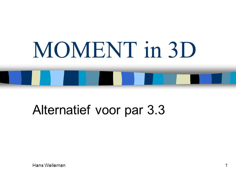 MOMENT in 3D Alternatief voor par 3.3 Hans Welleman