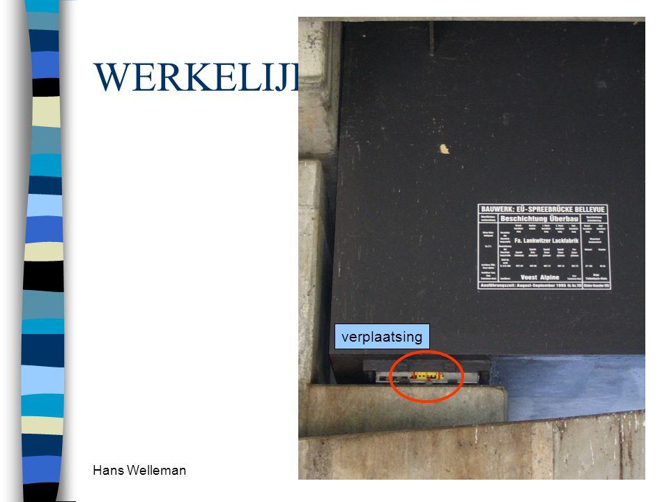 WERKELIJKHEID verplaatsing Hans Welleman
