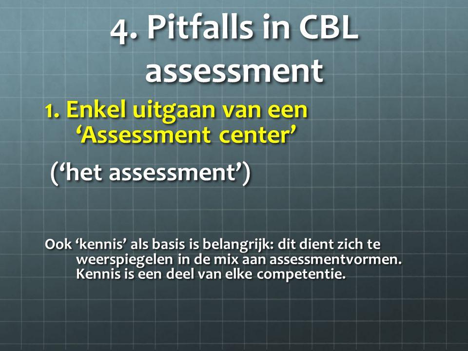4. Pitfalls in CBL assessment