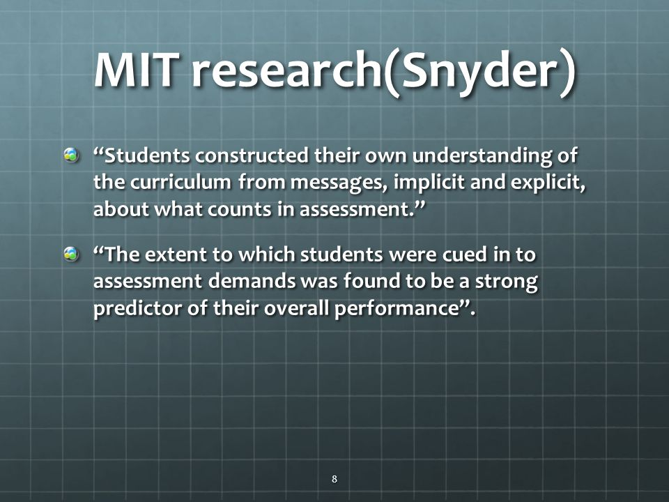 MIT research(Snyder)