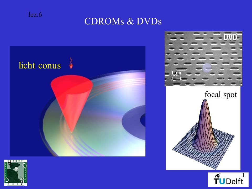 lez.6 CDROMs & DVDs licht conus focal spot