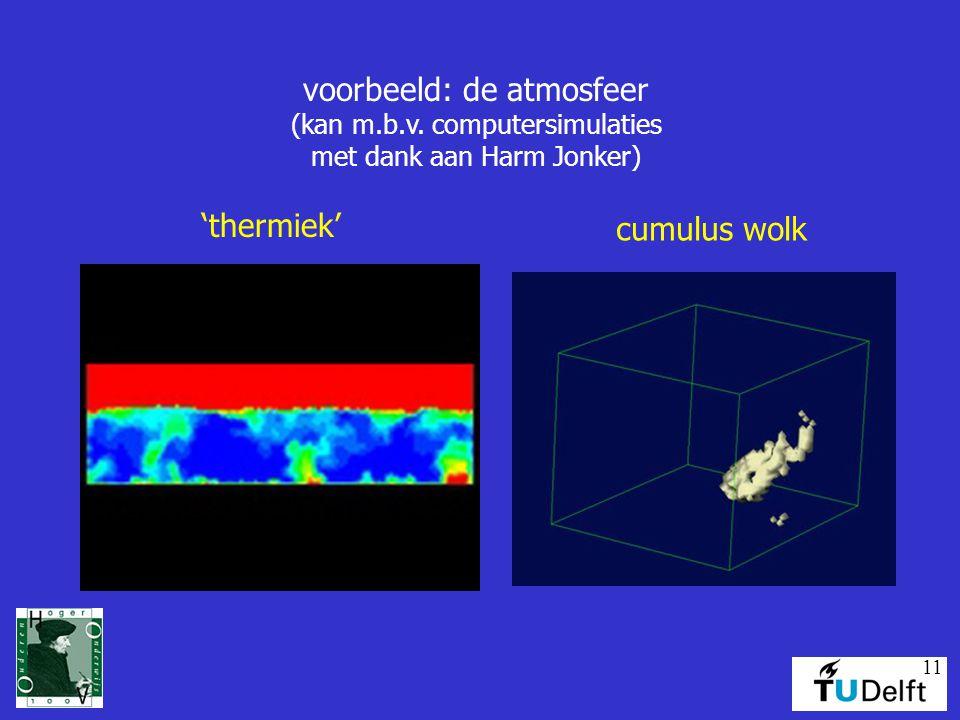 voorbeeld: de atmosfeer