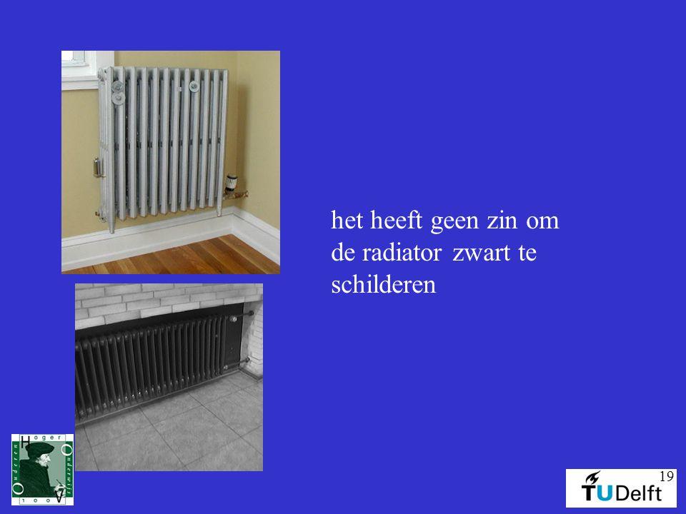 het heeft geen zin om de radiator zwart te schilderen