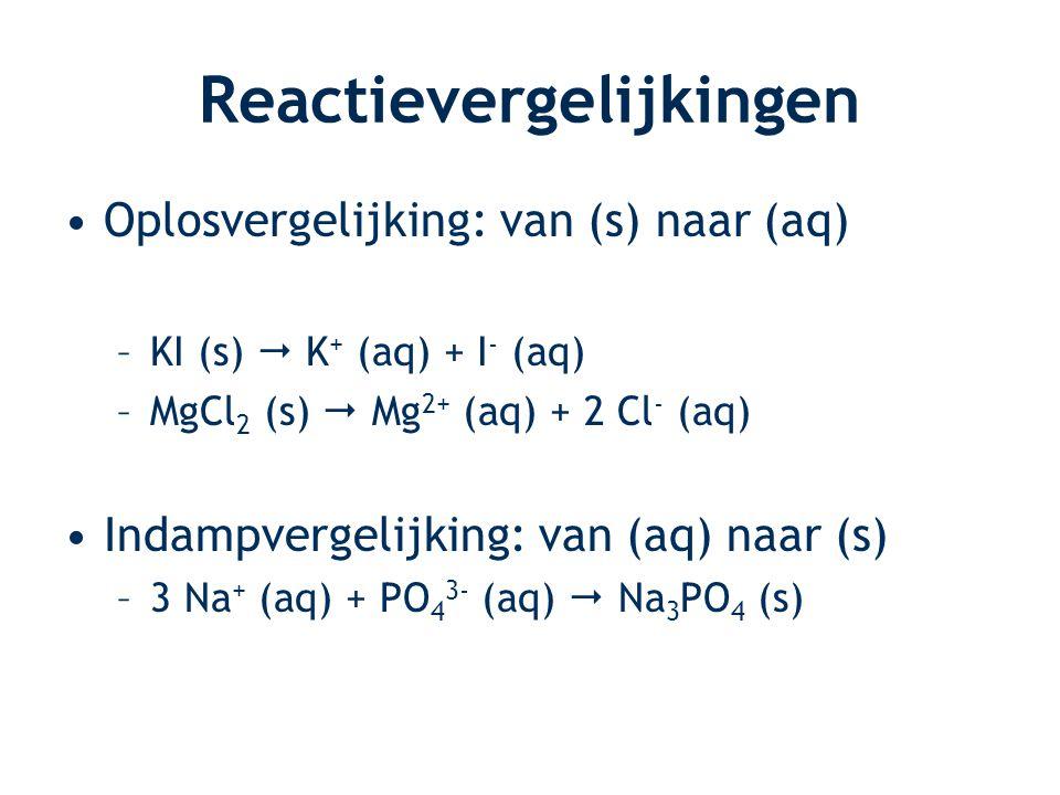 Reactievergelijkingen
