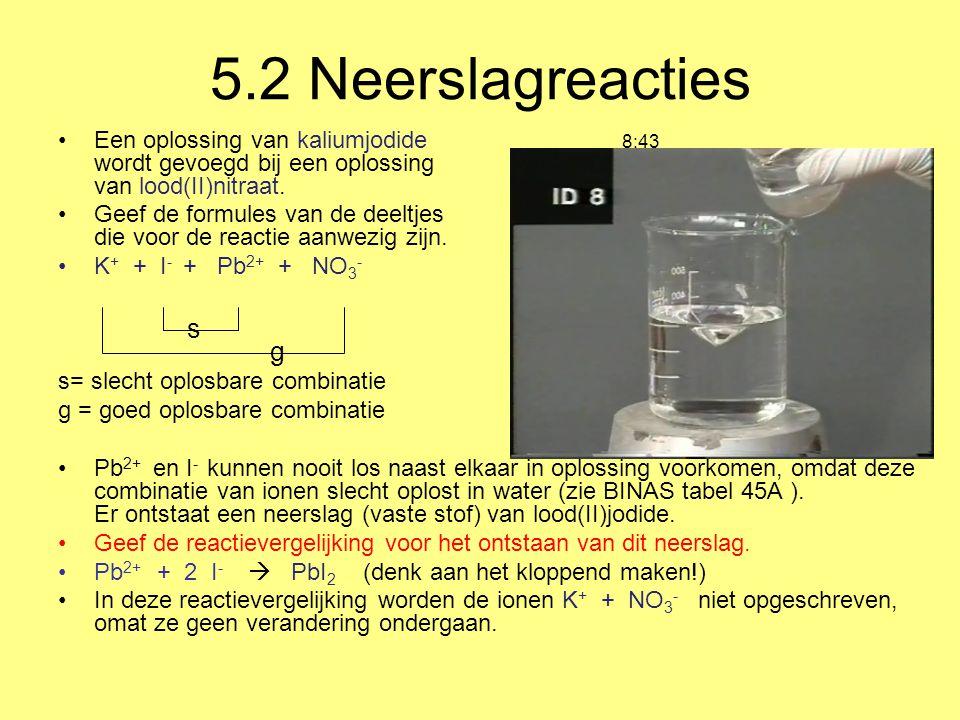 5.2 Neerslagreacties