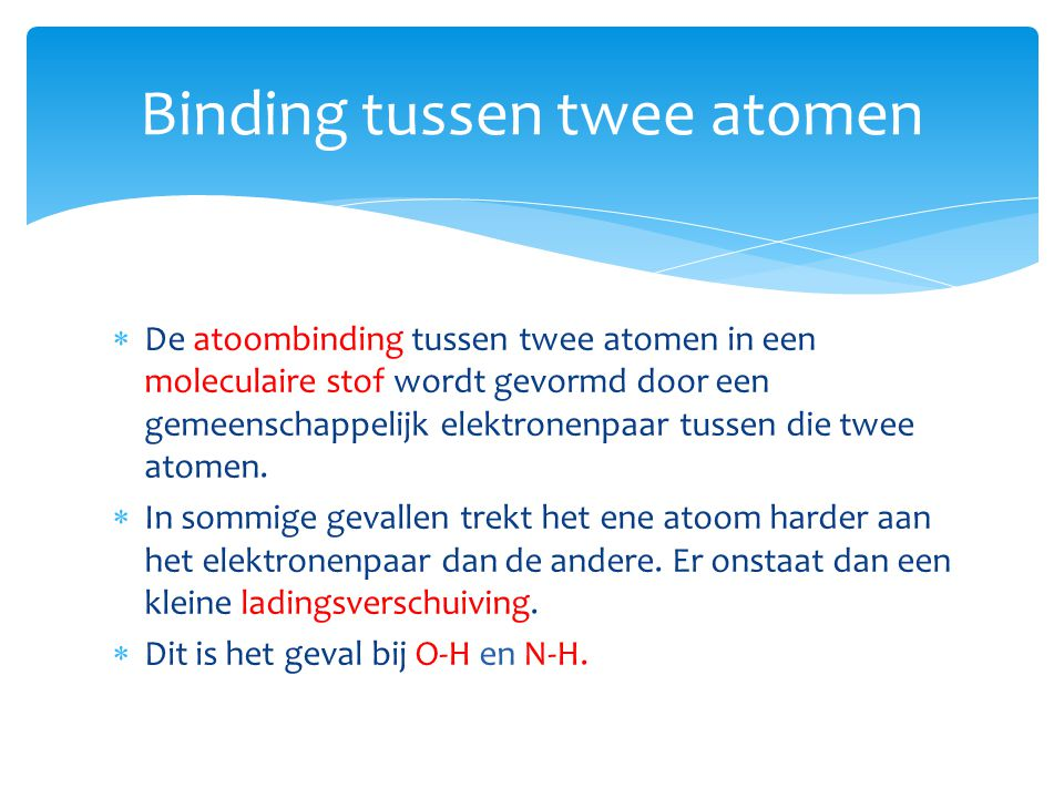 Binding tussen twee atomen