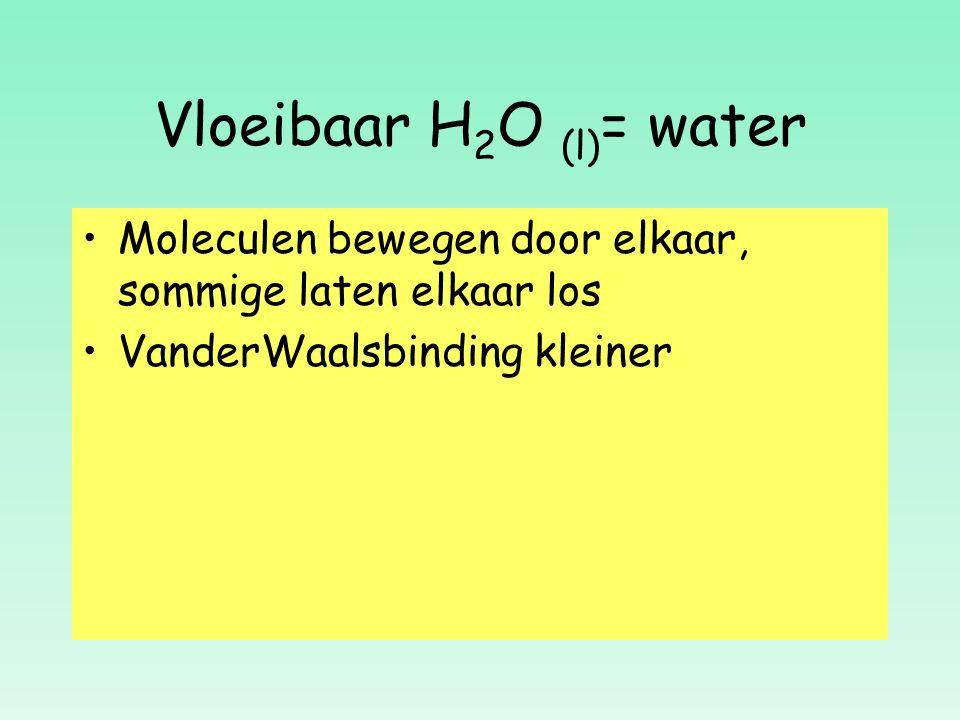 Vloeibaar H2O (l)= water