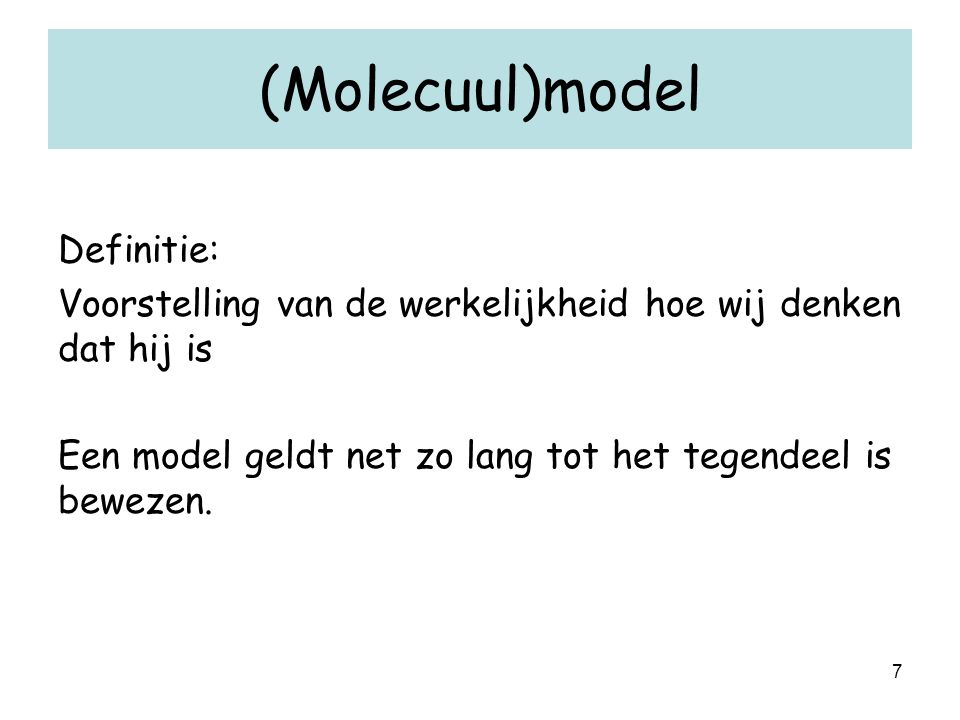 (Molecuul)model Definitie: