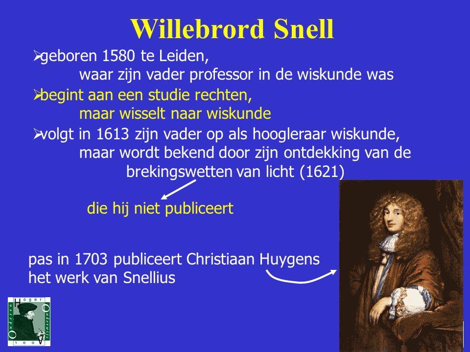 Willebrord Snell geboren 1580 te Leiden,