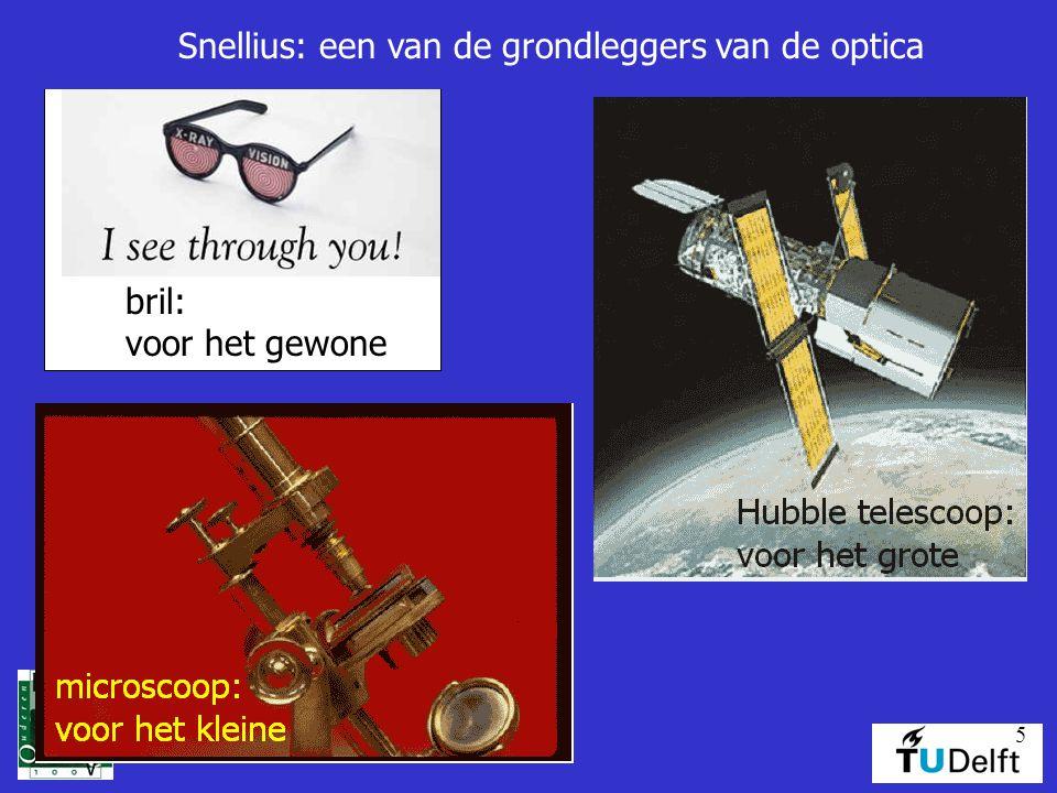 Snellius: een van de grondleggers van de optica