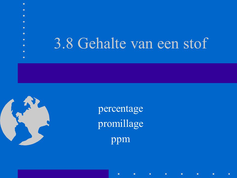 percentage promillage ppm