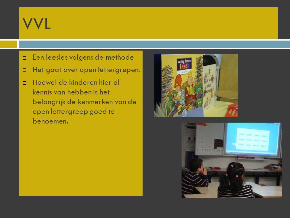 VVL Een leesles volgens de methode Het gaat over open lettergrepen.