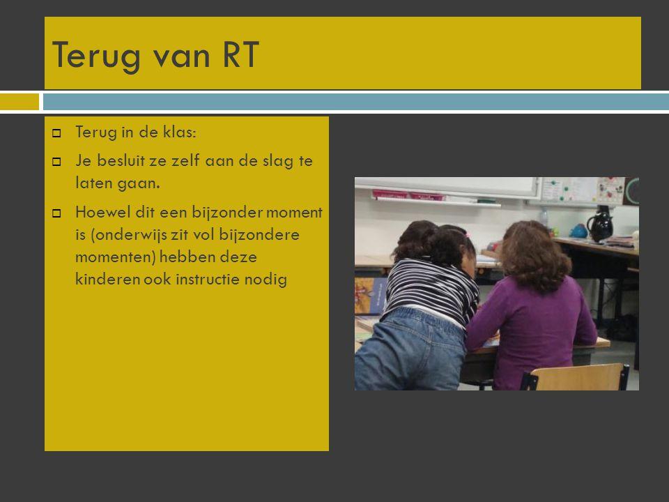 Terug van RT Terug in de klas: