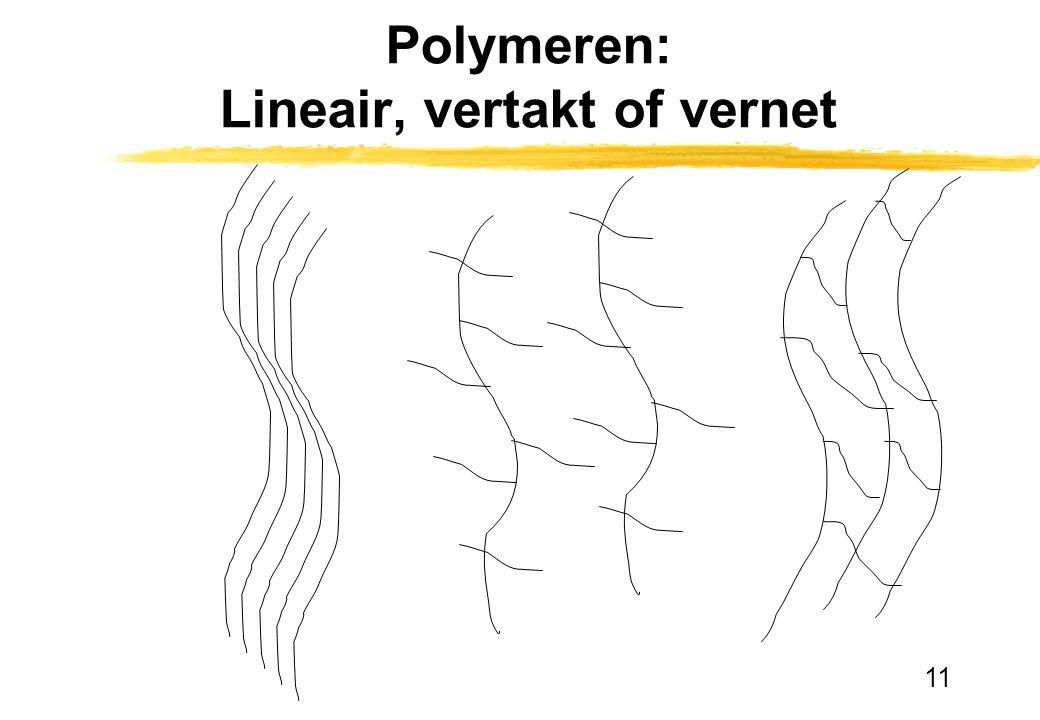 Polymeren: Lineair, vertakt of vernet