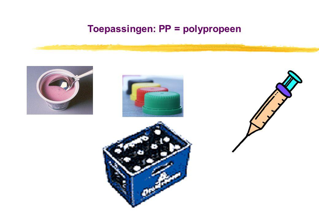 Toepassingen: PP = polypropeen