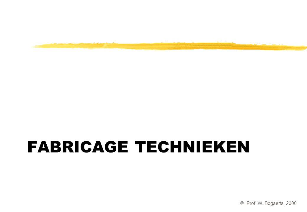 Fabricage technieken © Prof. W. Bogaerts, 2000
