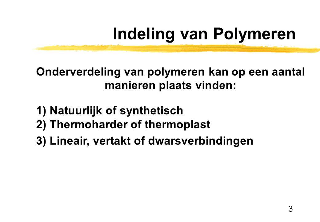 Indeling van Polymeren