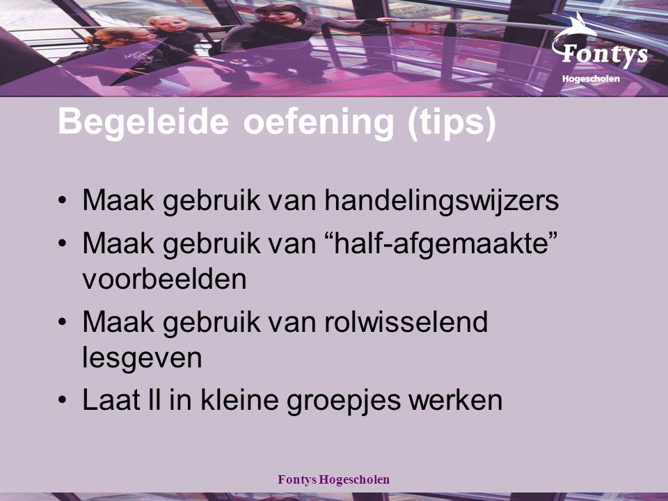 Begeleide oefening (tips)