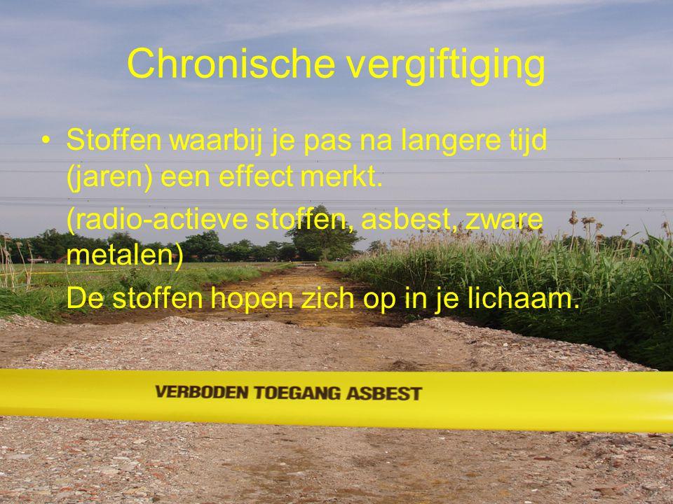 Chronische vergiftiging