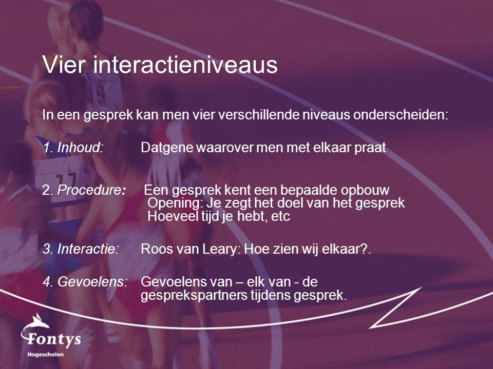 Vier interactieniveaus
