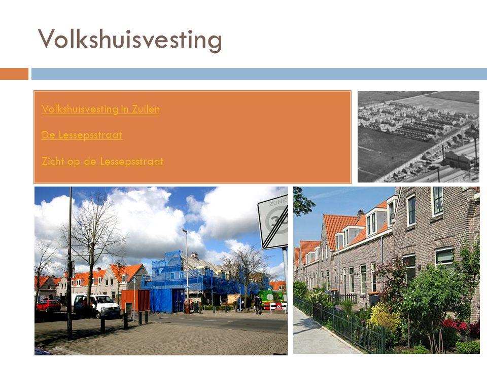 Volkshuisvesting Volkshuisvesting in Zuilen De Lessepsstraat