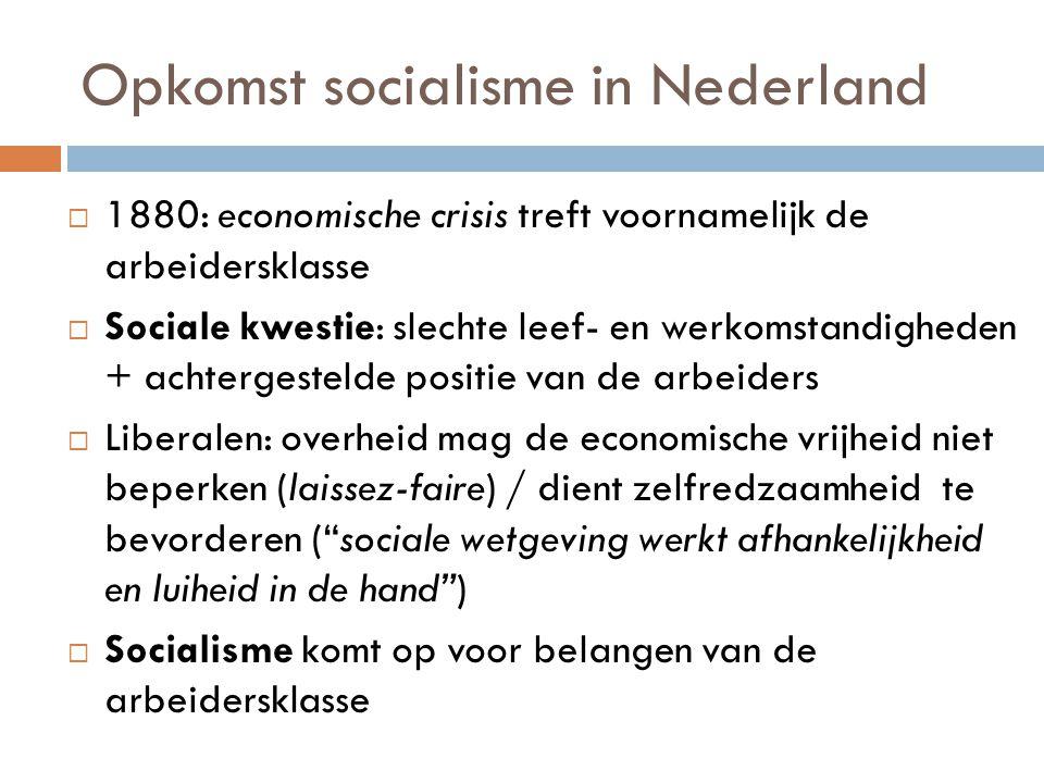 Opkomst socialisme in Nederland