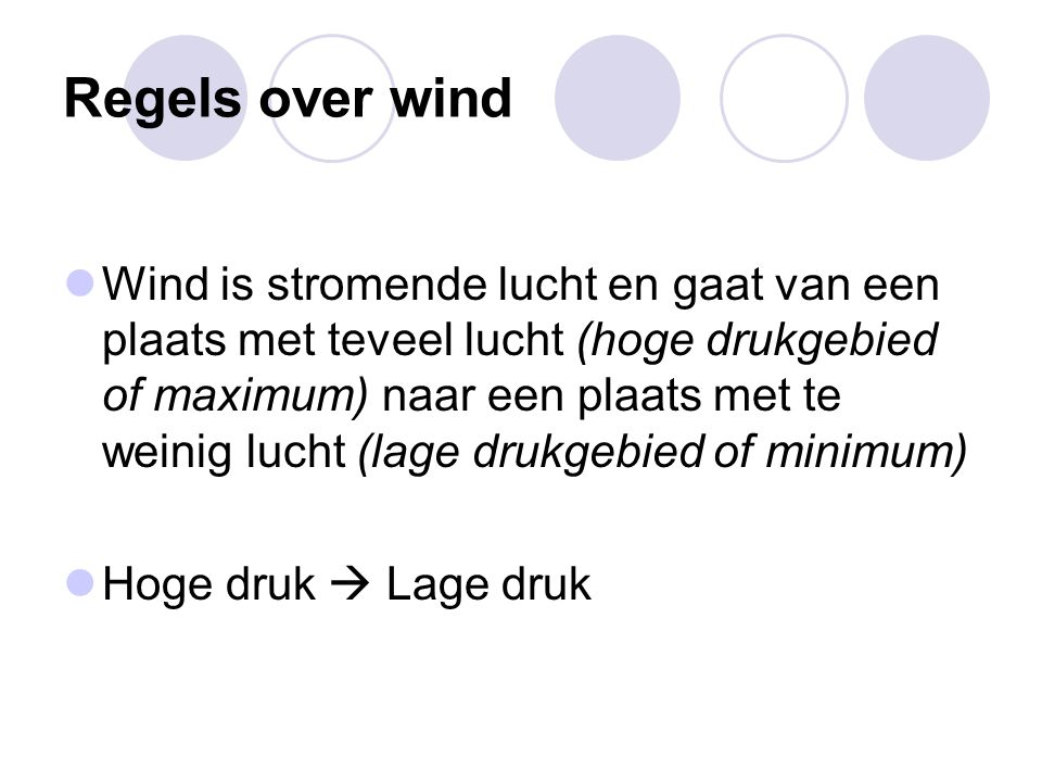 Regels over wind