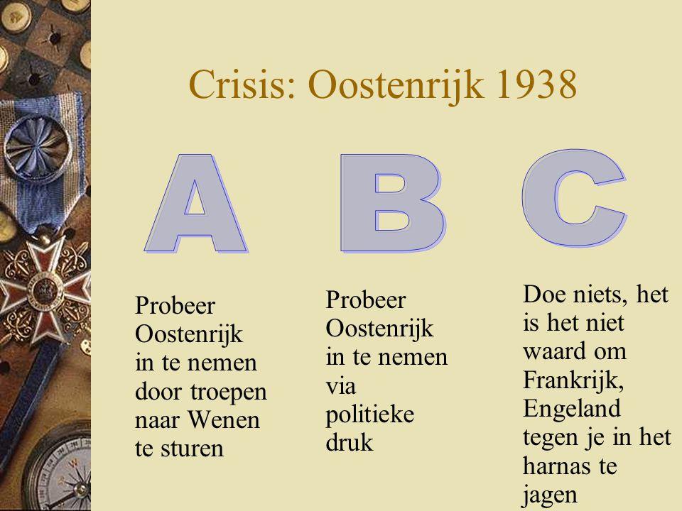Crisis: Oostenrijk 1938 C A B
