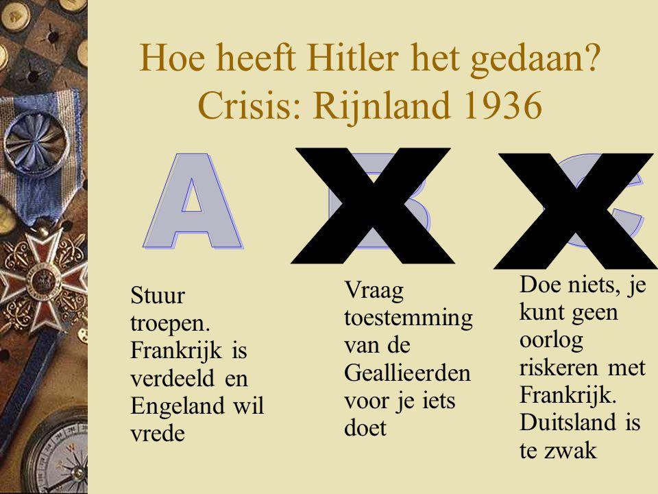 Hoe heeft Hitler het gedaan Crisis: Rijnland 1936