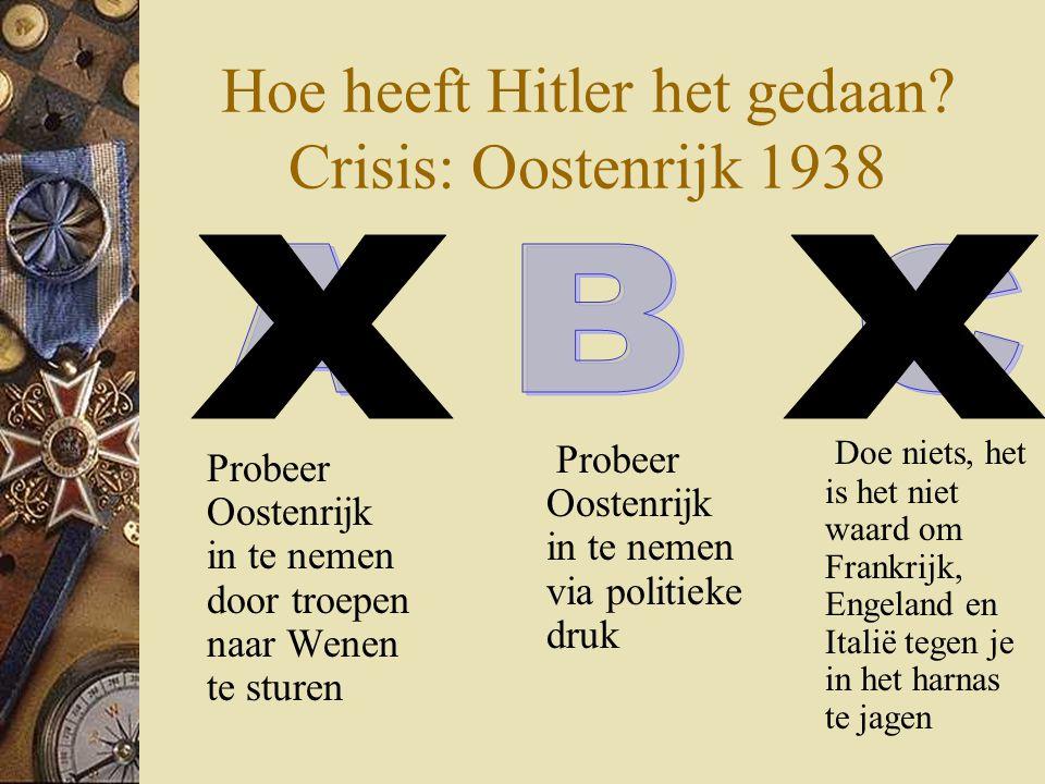 Hoe heeft Hitler het gedaan Crisis: Oostenrijk 1938
