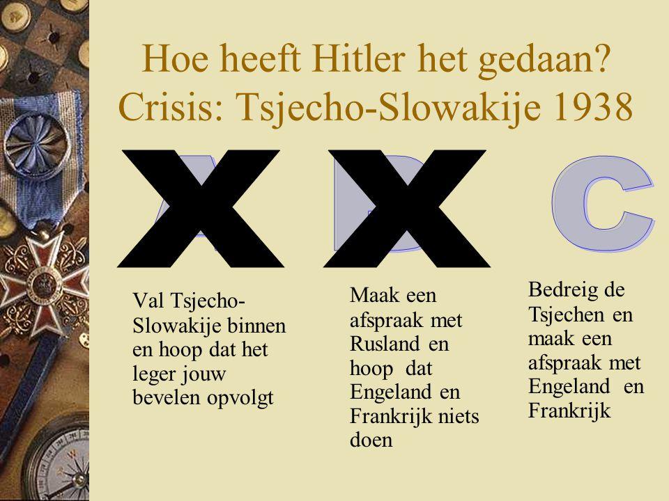 Hoe heeft Hitler het gedaan Crisis: Tsjecho-Slowakije 1938