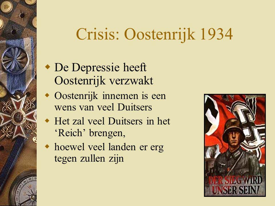 Crisis: Oostenrijk 1934 De Depressie heeft Oostenrijk verzwakt