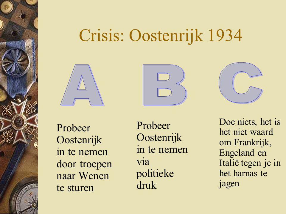 Crisis: Oostenrijk 1934 C A B
