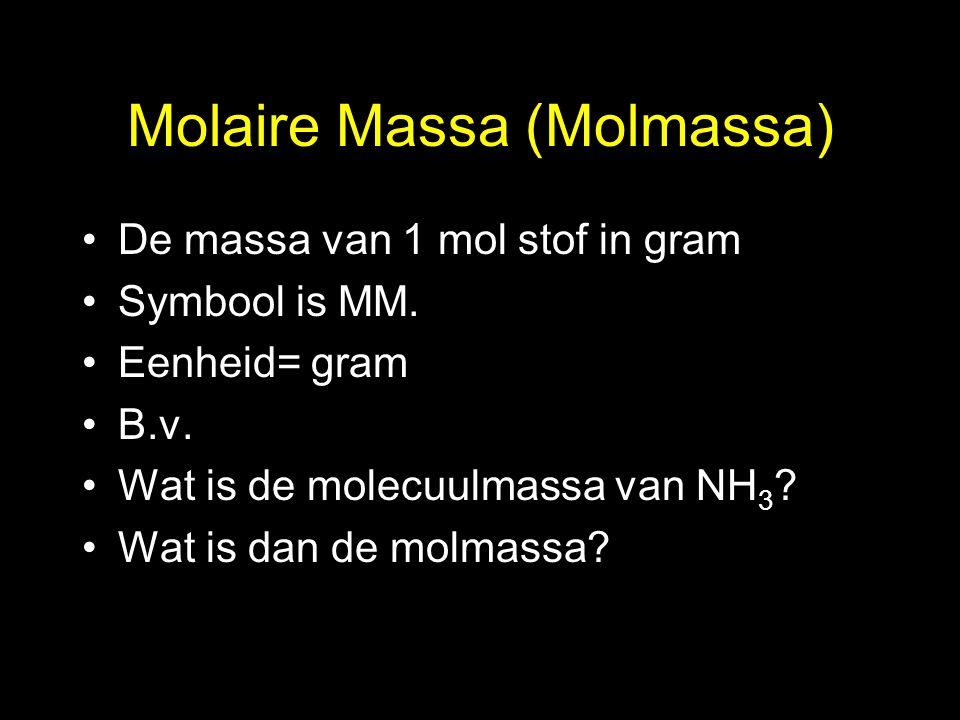 Molaire Massa (Molmassa)